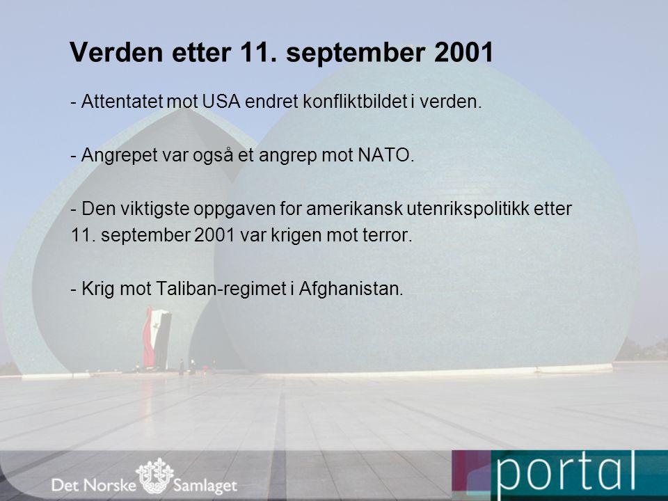Verden etter 11. september 2001