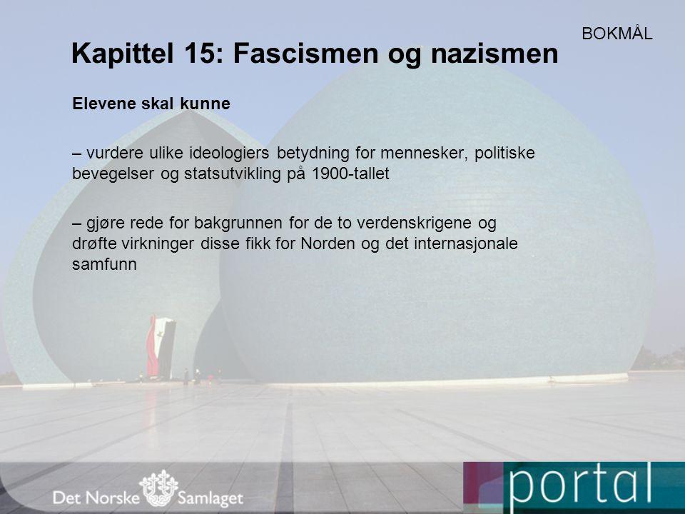 Kapittel 15: Fascismen og nazismen