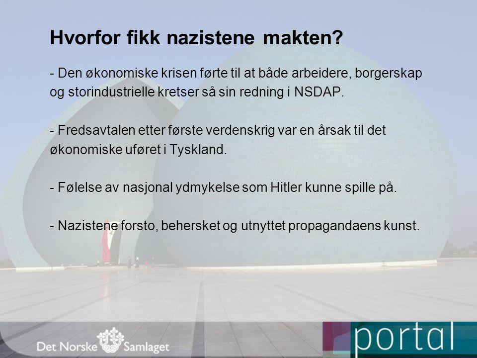 Hvorfor fikk nazistene makten