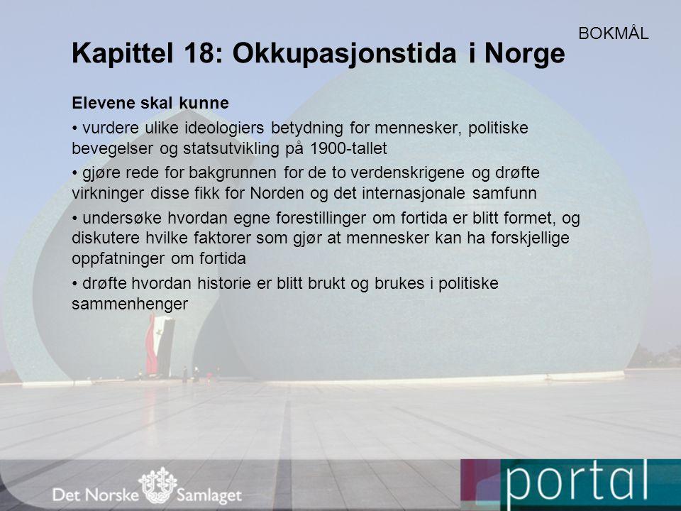 Kapittel 18: Okkupasjonstida i Norge