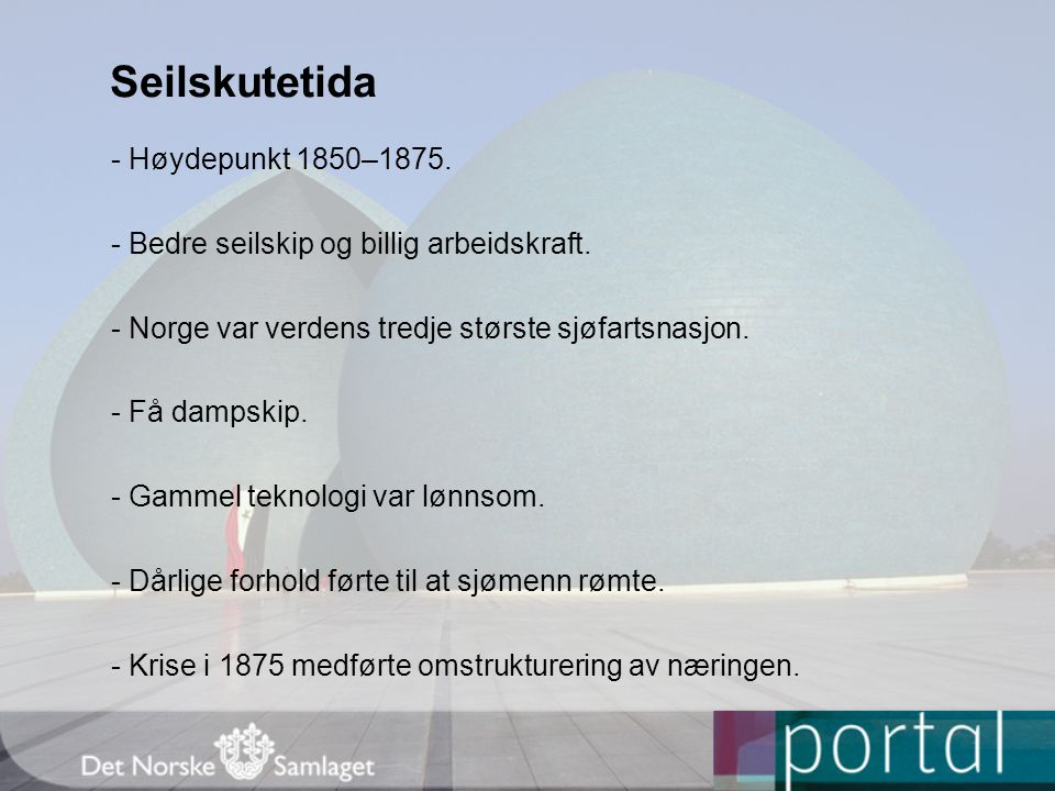 Seilskutetida - Høydepunkt 1850–1875.