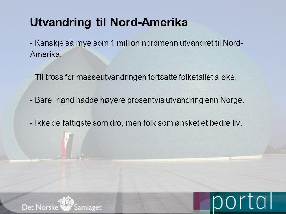 Utvandring til Nord-Amerika