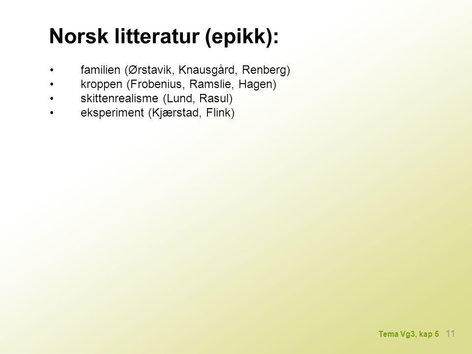 Norsk litteratur (epikk):