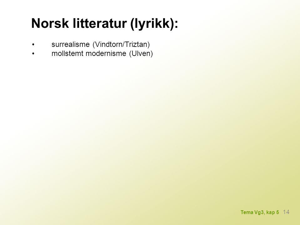 Norsk litteratur (lyrikk):