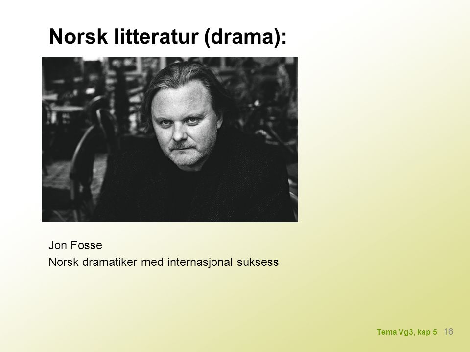 Norsk litteratur (drama):