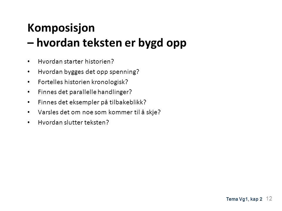 Komposisjon – hvordan teksten er bygd opp