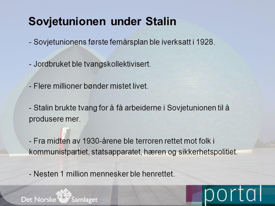 Sovjetunionen under Stalin