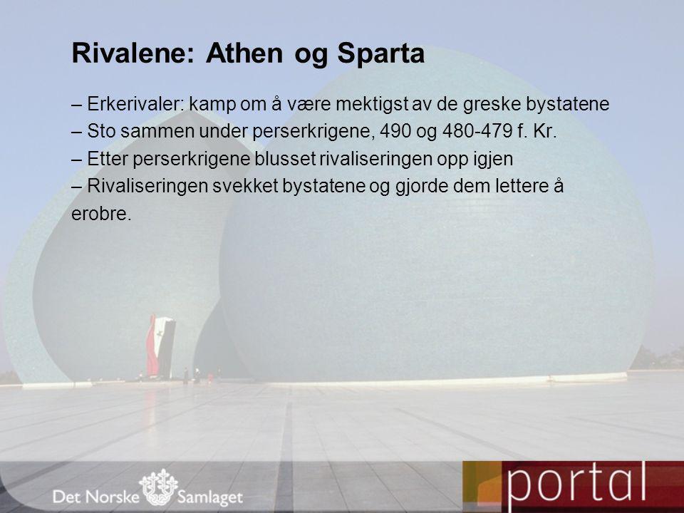 Rivalene: Athen og Sparta