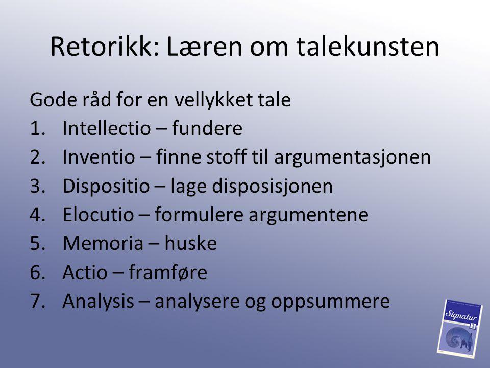 Retorikk: Læren om talekunsten
