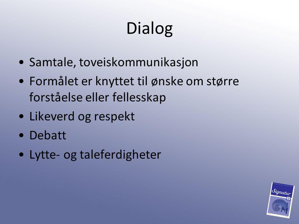 Dialog Samtale, toveiskommunikasjon