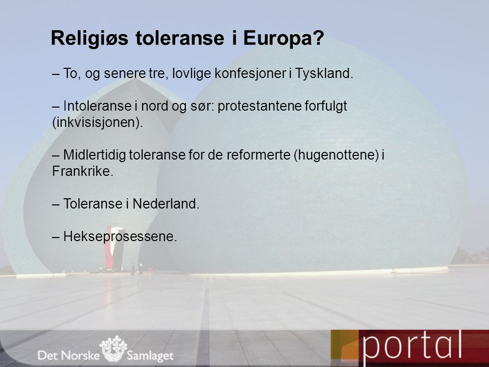 Religiøs toleranse i Europa