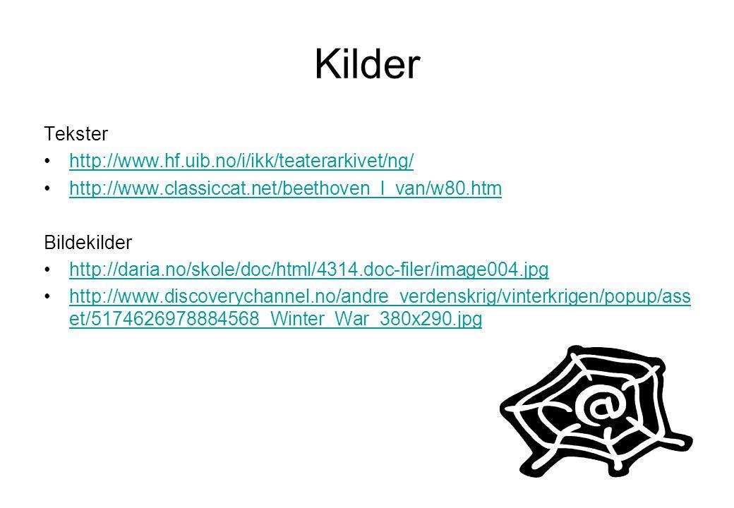Kilder Tekster http://www.hf.uib.no/i/ikk/teaterarkivet/ng/