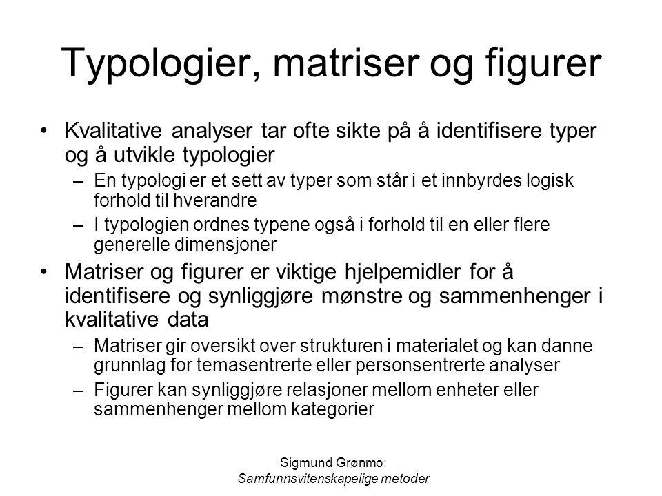 Typologier, matriser og figurer