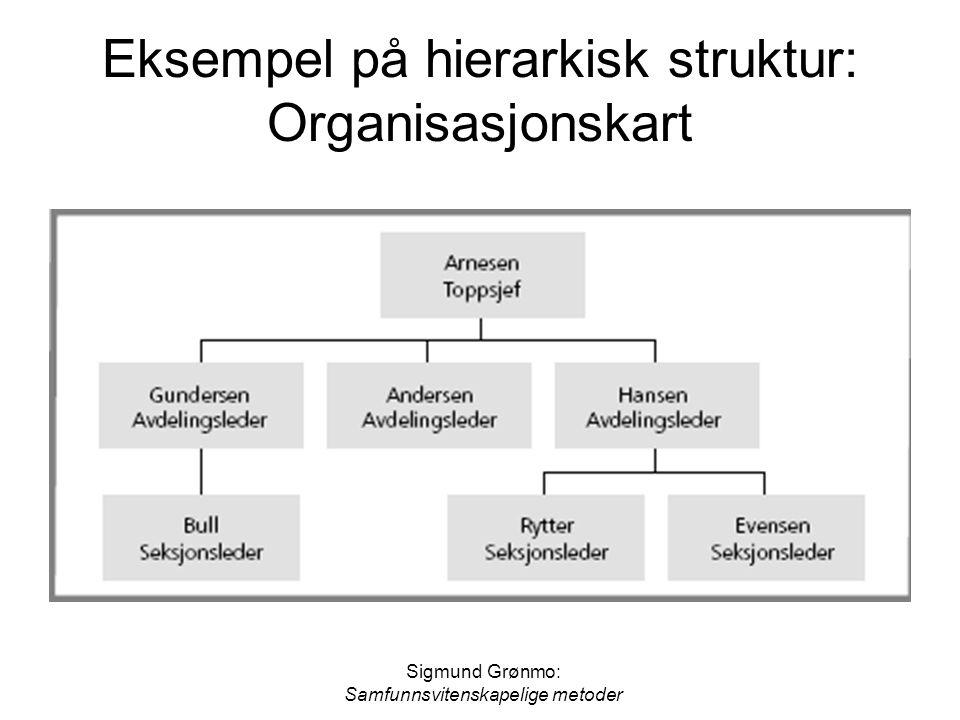 Eksempel på hierarkisk struktur: Organisasjonskart