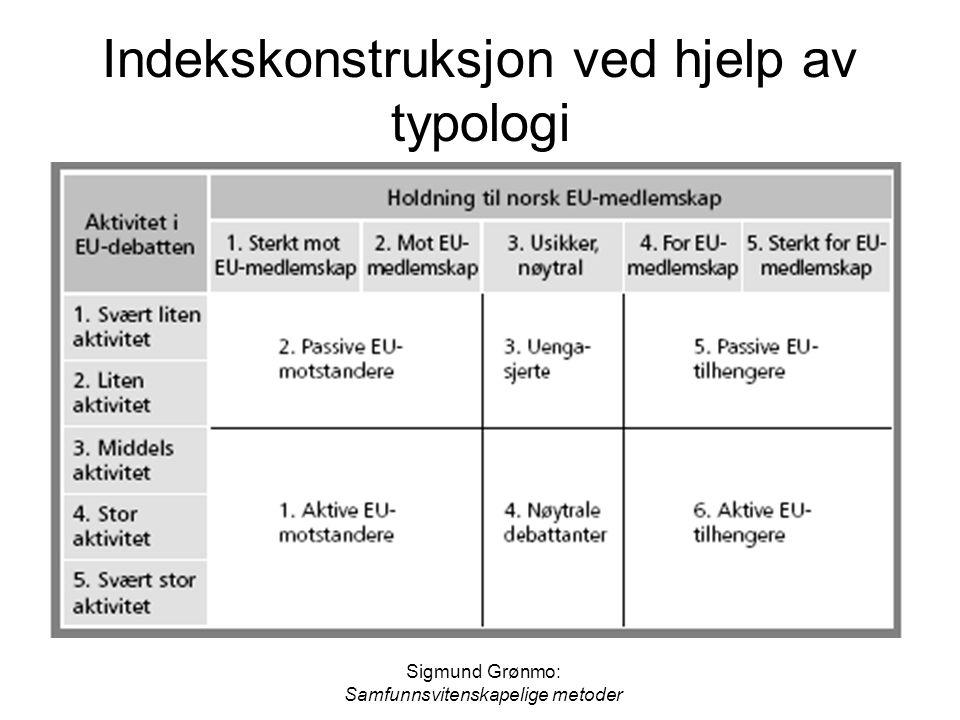 Indekskonstruksjon ved hjelp av typologi