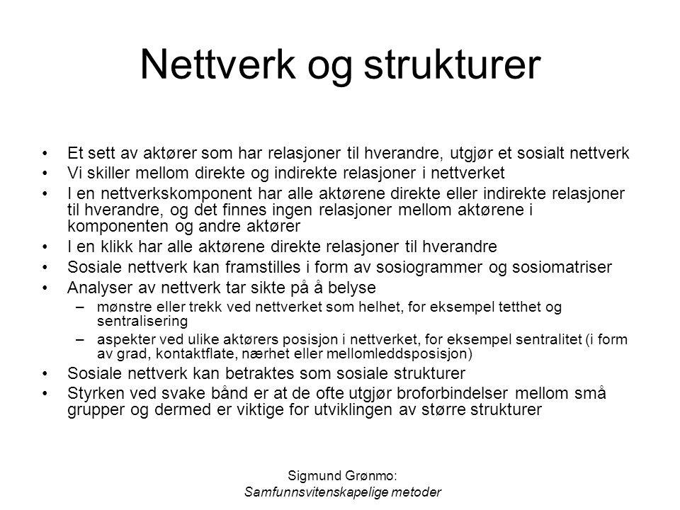 Nettverk og strukturer