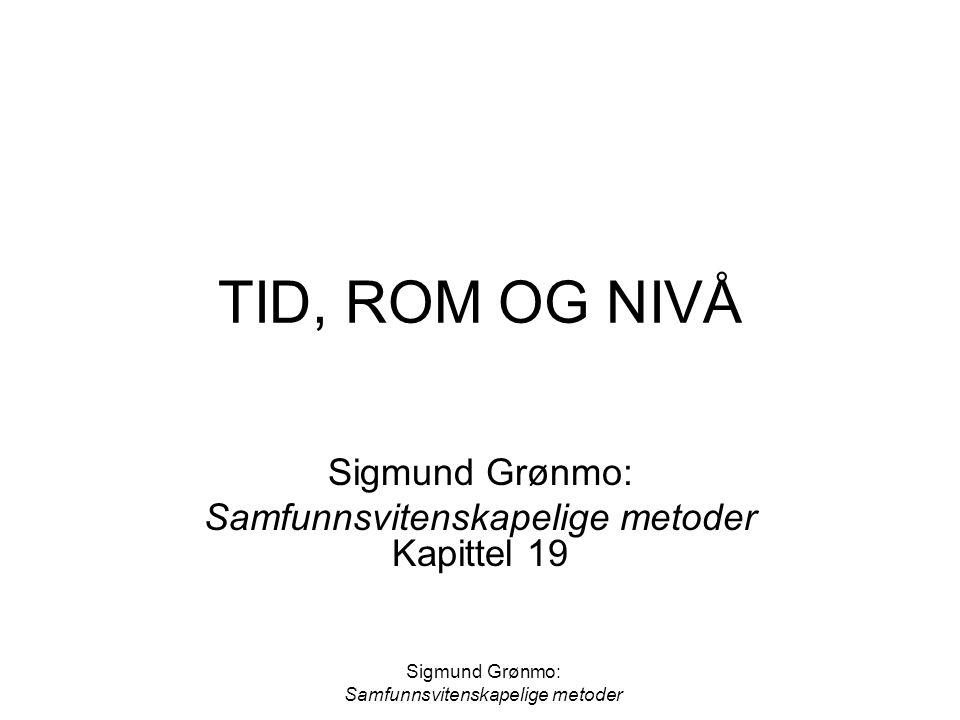 Sigmund Grønmo: Samfunnsvitenskapelige metoder Kapittel 19