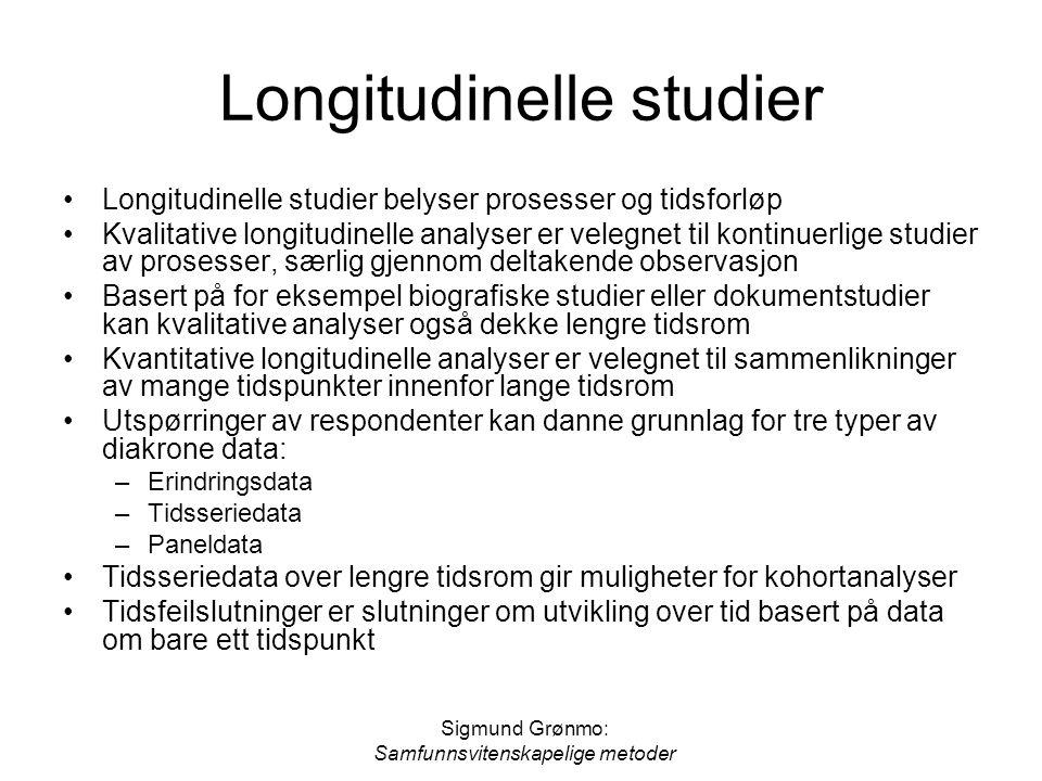 Longitudinelle studier