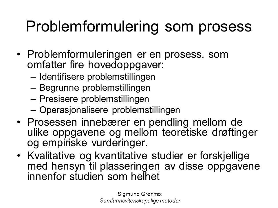 Problemformulering som prosess