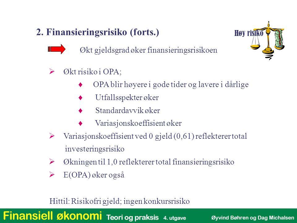 2. Finansieringsrisiko (forts.)