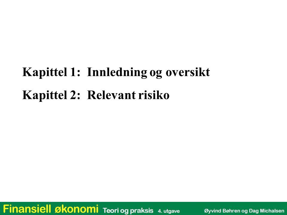Kapittel 1: Innledning og oversikt