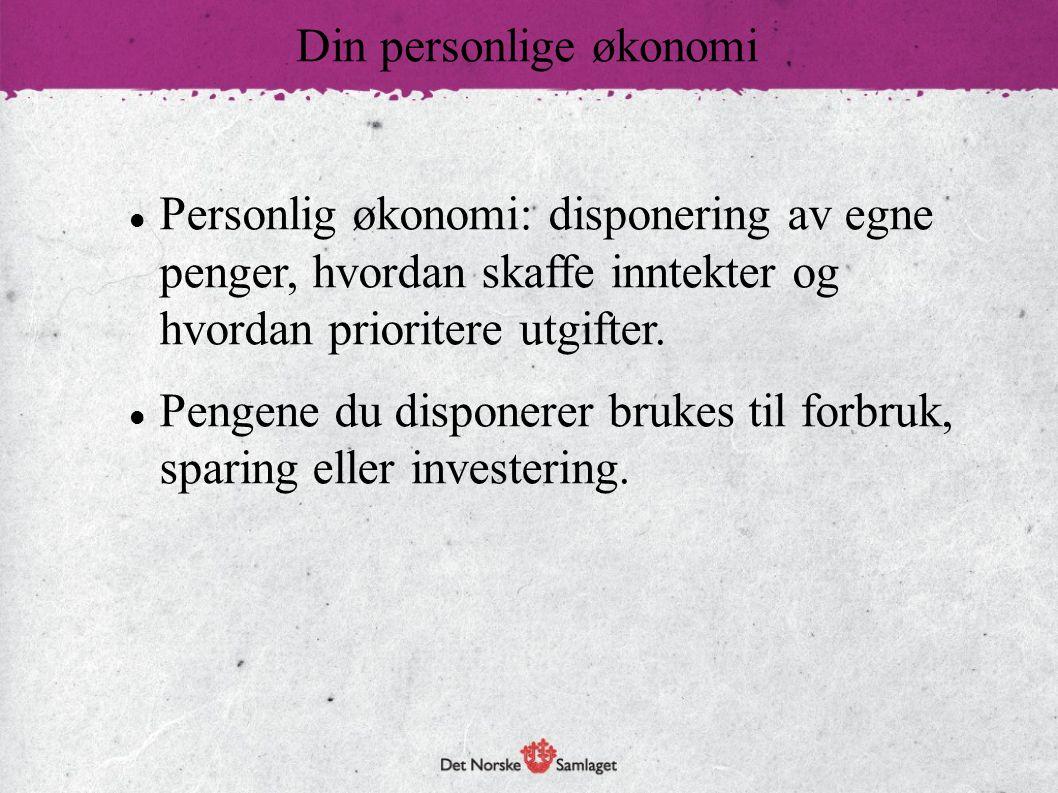 Din personlige økonomi