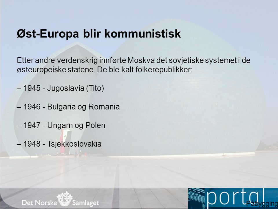 Øst-Europa blir kommunistisk