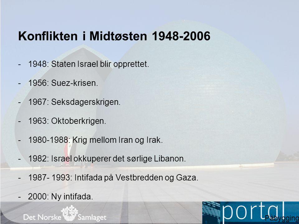 Konflikten i Midtøsten 1948-2006