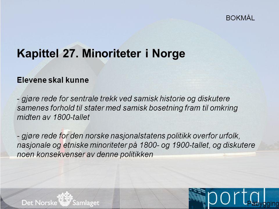 Kapittel 27. Minoriteter i Norge