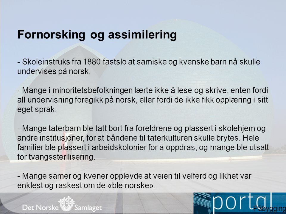 Fornorsking og assimilering