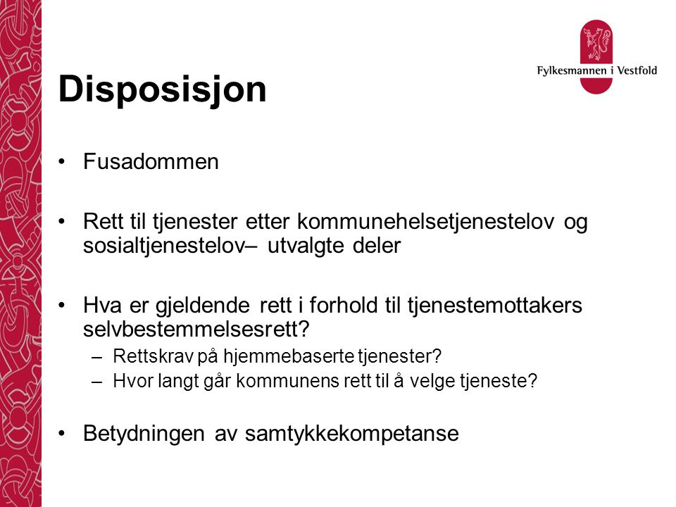 Disposisjon Fusadommen