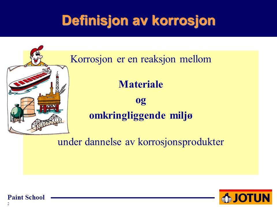 Definisjon av korrosjon