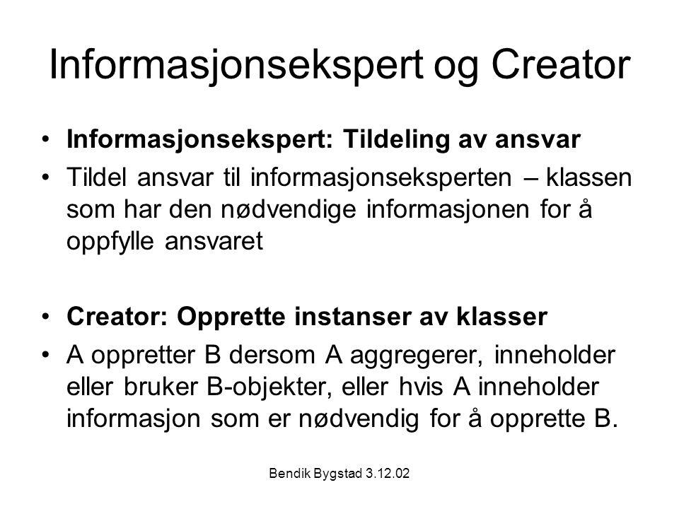 Informasjonsekspert og Creator