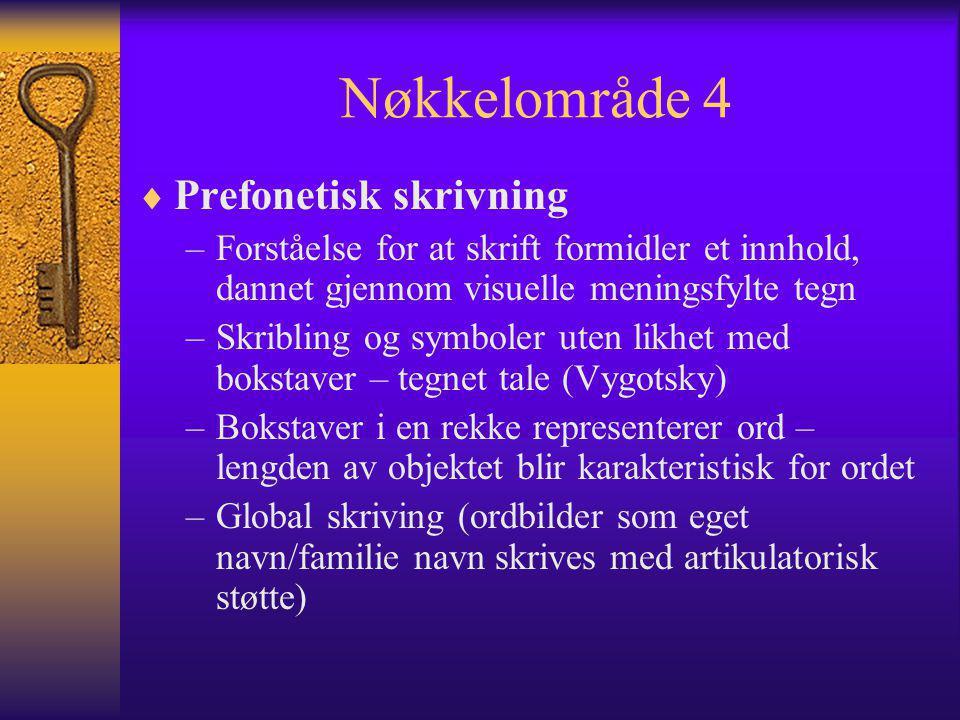 Nøkkelområde 4 Prefonetisk skrivning