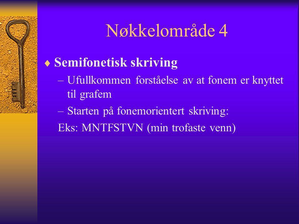 Nøkkelområde 4 Semifonetisk skriving