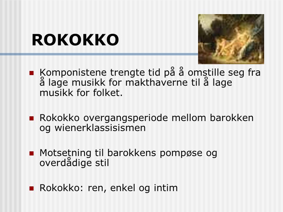 ROKOKKO Komponistene trengte tid på å omstille seg fra å lage musikk for makthaverne til å lage musikk for folket.