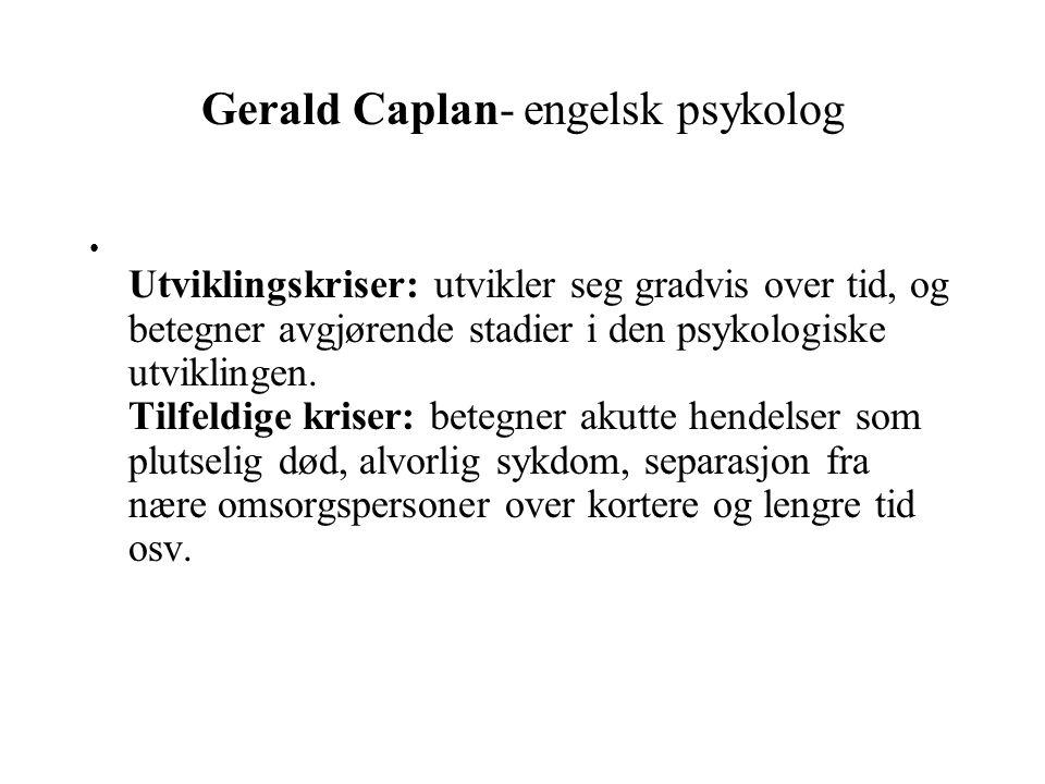 Gerald Caplan- engelsk psykolog