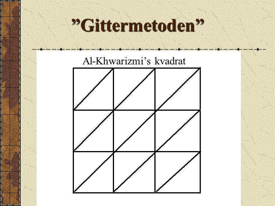 Al-Khwarizmi's kvadrat