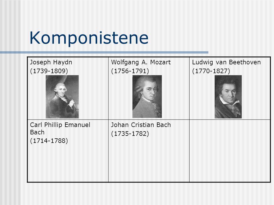 Komponistene Joseph Haydn (1739-1809) Wolfgang A. Mozart (1756-1791)