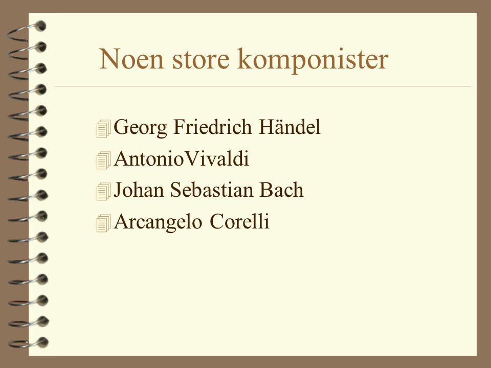 Noen store komponister