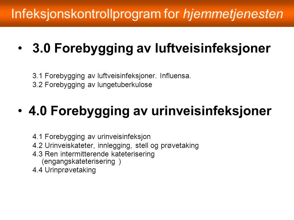 Infeksjonskontrollprogram for hjemmetjenesten