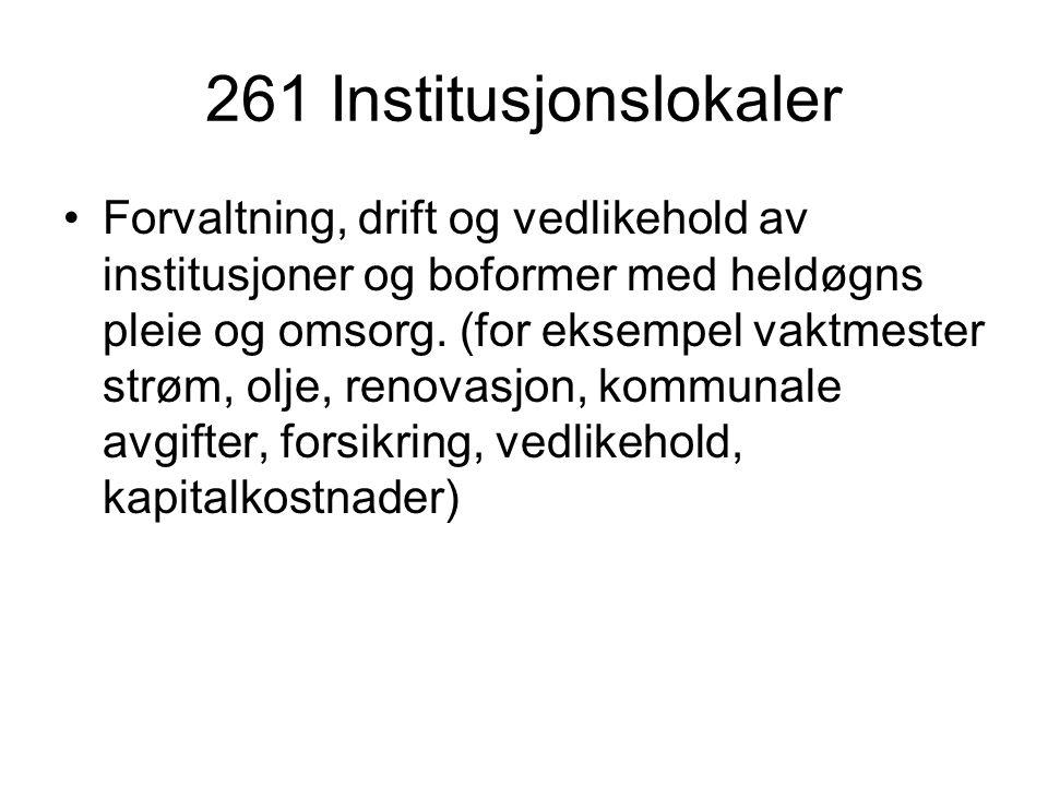 261 Institusjonslokaler