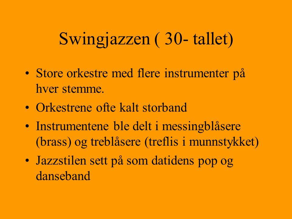 Swingjazzen ( 30- tallet)