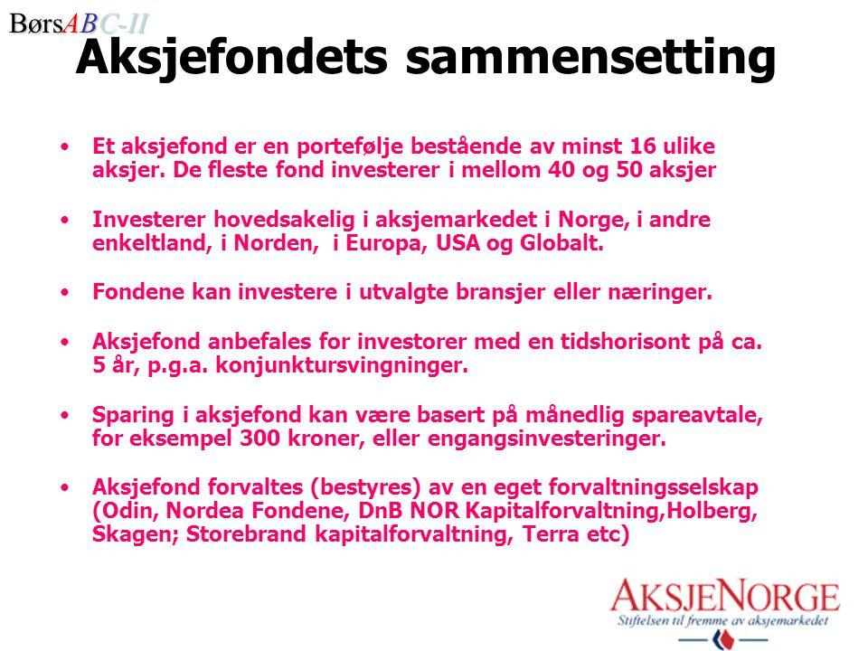 Aksjefondets sammensetting