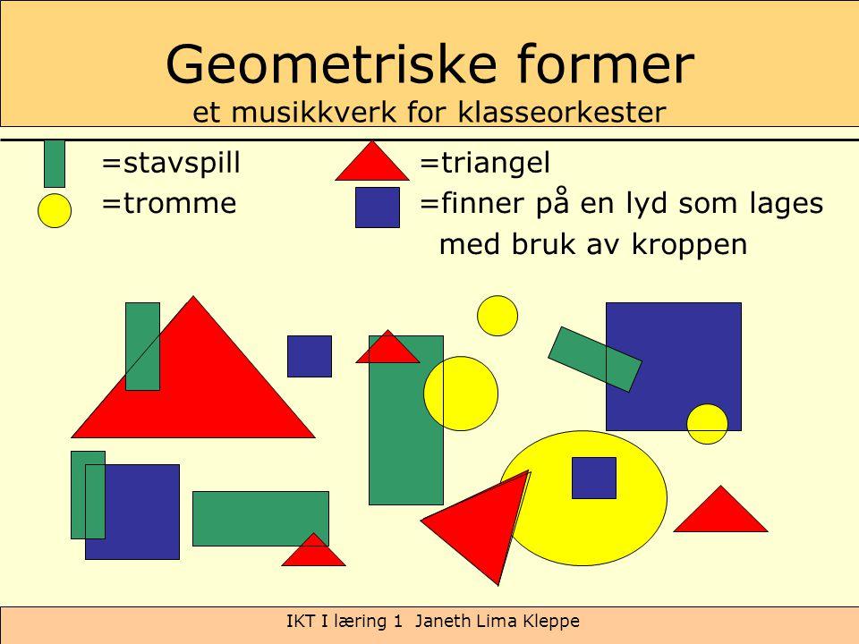 Geometriske former et musikkverk for klasseorkester