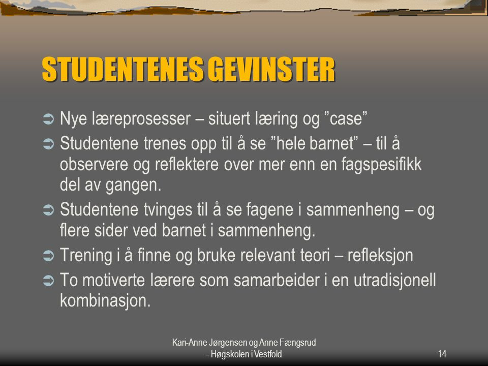 STUDENTENES GEVINSTER
