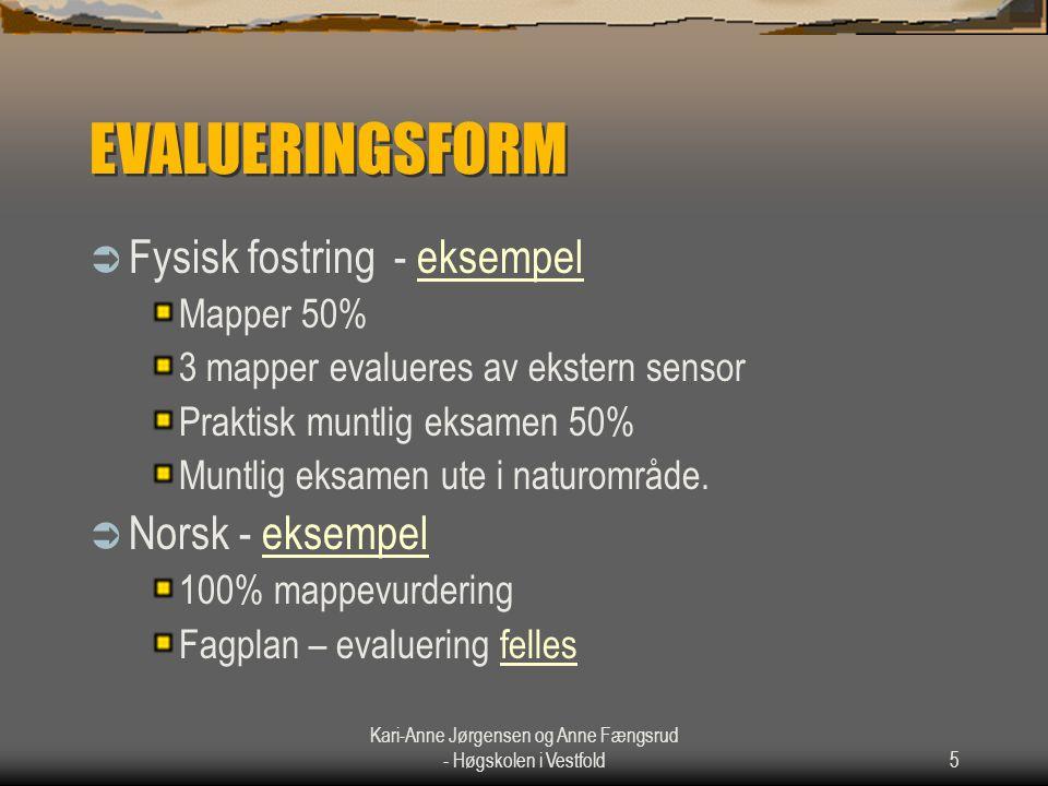 Kari-Anne Jørgensen og Anne Fængsrud - Høgskolen i Vestfold