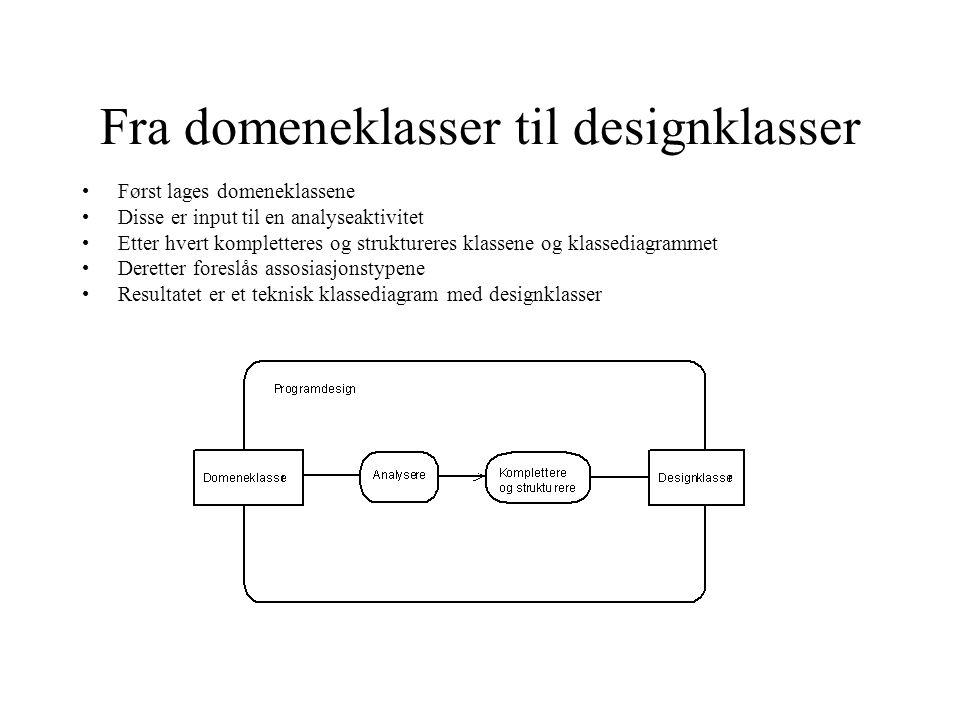 Fra domeneklasser til designklasser