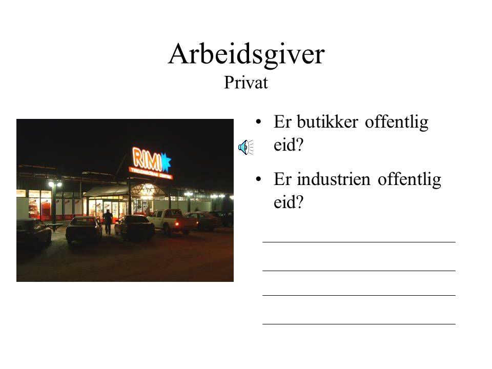 Arbeidsgiver Privat Er butikker offentlig eid