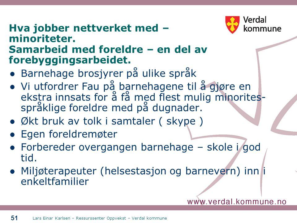 Barnehage brosjyrer på ulike språk